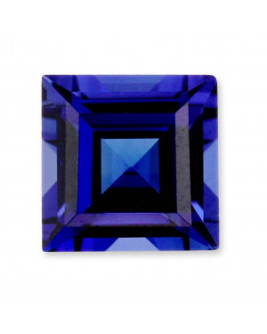 1.5mm SQUARE CREATED SAPPHIRE