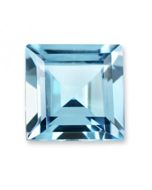 2mm SQUARE SKY BLUE TOPAZ AAA