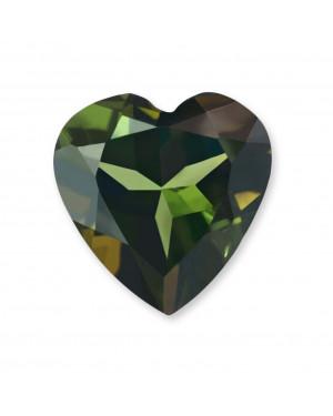 4mm HEART GREEN TOURMALINE AAA